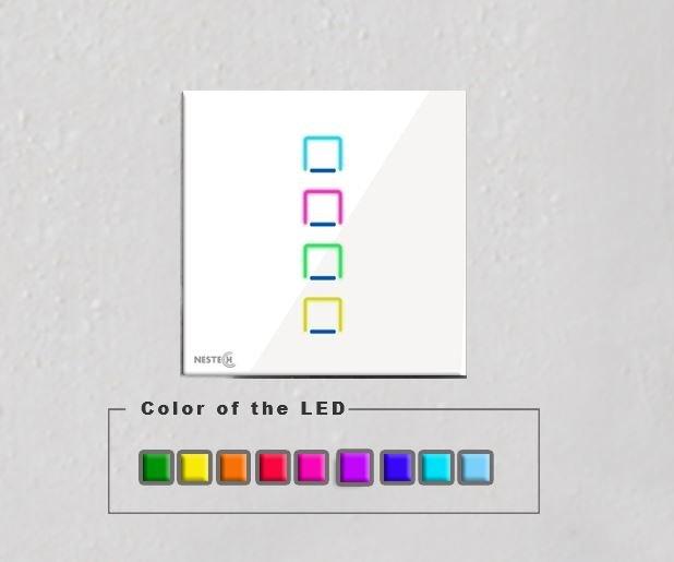 رنگ پشت زمینه کلید نستک