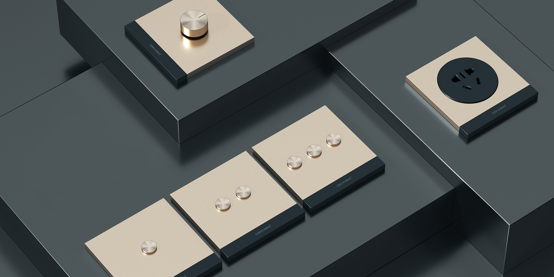 کلید هوشمند Orvibo طرح Geekrav طلایی